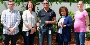Fastener Solutions Team Displays EHS Award