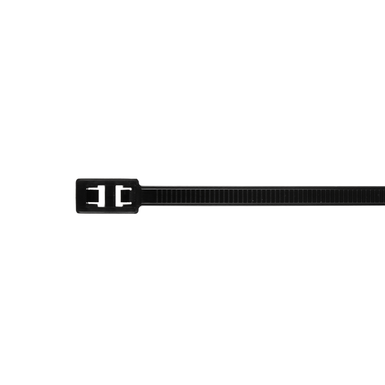 7.5 Inch Double Headed Black Cable Tie