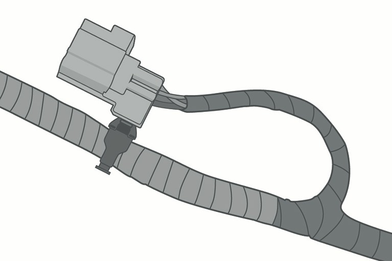 Connector Tie for Wire Harness