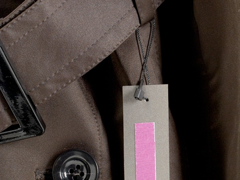 StringTach Fastener on Luxury Coat